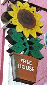 The pub sign. The Flower Pot, Derby, Derbyshire