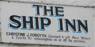 The pub sign. The Ship Inn, Low Newton-by-the-Sea, Northumberland