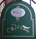 The pub sign. The Chambers, Folkestone, Kent