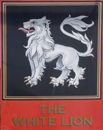 The pub sign. The White Lion, Selling, Kent