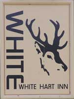 The pub sign. White Hart Inn, Margaretting Tye, Essex