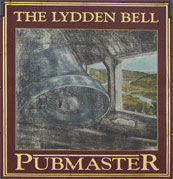 The pub sign. The Lydden Bell, Lydden, Kent