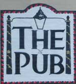 The pub sign. The Pub, Leicester, Leicestershire