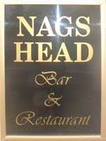 The pub sign. Nag's Head, Eastrea, Cambridgeshire