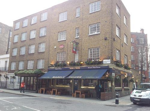 Picture 1. Mabel's Tavern, Euston, Central London