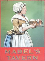 The pub sign. Mabel's Tavern, Euston, Central London