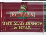 The pub sign. The Mad Bishop & Bear, Paddington, Central London