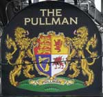 The pub sign. The Pullman, Folkestone, Kent