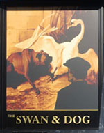 The pub sign. The Swan & Dog, Great Chart, Kent