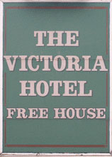 The pub sign. The Victoria Hotel, Beeston, Nottinghamshire