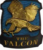 The pub sign. The Falcon, Battersea, Greater London