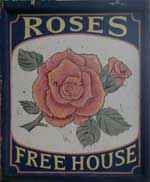 The pub sign. Prince Albert (Rose's), Woolwich, Greater London