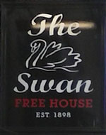 The pub sign. Swan Inn, Liverpool, Merseyside