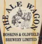 The pub sign. The Ale Wagon, Leicester, Leicestershire