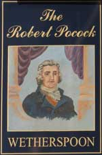The pub sign. The Robert Pocock, Gravesend, Kent