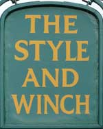 The pub sign. The Style & Winch, Maidstone, Kent