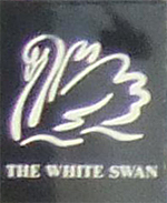 The pub sign. The White Swan, Twickenham, Greater London