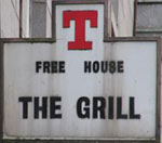 The pub sign. The Grill, Aberdeen, Aberdeenshire