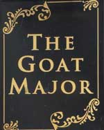 The pub sign. The Goat Major, Cardiff, Glamorgan