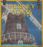 The pub sign. Berney Arms, Berney Arms, Norfolk