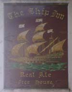 The pub sign. Ship Inn, Oundle, Northamptonshire