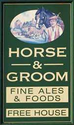 The pub sign. Horse & Groom, Basford, Nottinghamshire