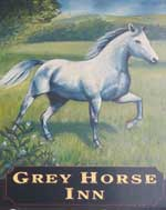 The pub sign. Grey Horse Inn, Manchester, Greater Manchester