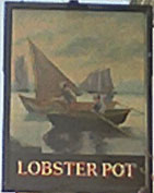 The pub sign. The Lobster Pot, West Malling, Kent