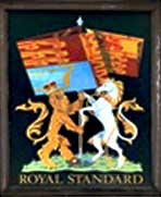 The pub sign. Royal Standard, Wooburn Common, Buckinghamshire