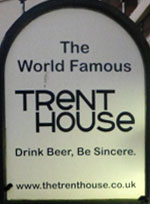 The pub sign. Trent House, Newcastle-upon-Tyne, Tyne and Wear