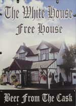 The pub sign. The White House, East Farleigh, Kent