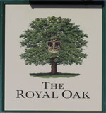 The pub sign. The Royal Oak, Brookland, Kent