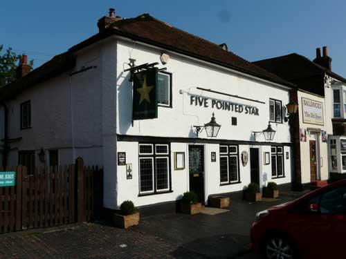 Picture 1. Five Pointed Star, West Malling, Kent