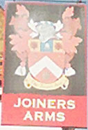 The pub sign. Joiners Arms, West Malling, Kent