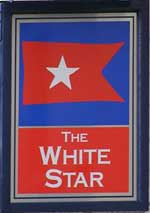 The pub sign. The White Star, Stoke-on-Trent, Staffordshire