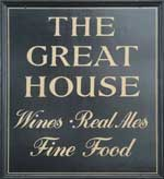 The pub sign. The Great House, Hawkhurst, Kent