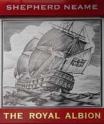 The pub sign. The Royal Albion, Maidstone, Kent