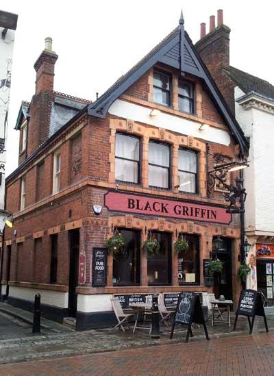 Picture 1. Black Griffin, Canterbury, Kent