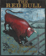 The pub sign. The Red Bull, Eccles, Kent