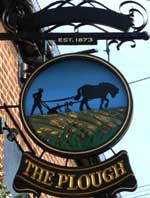 The pub sign. The Plough, Chelmsford, Essex