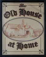 The pub sign. The Old House at Home, Maidstone, Kent