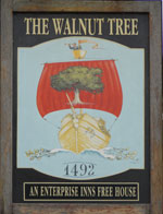 The pub sign. The Walnut Tree, Yalding, Kent