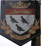 The pub sign. City Arms, Canterbury, Kent