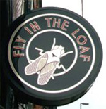 The pub sign. Fly in the Loaf, Liverpool, Merseyside