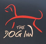 The pub sign. The Dog Inn, Wingham, Kent