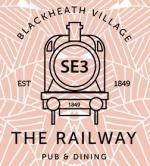 The pub sign. The Railway, Blackheath, Greater London