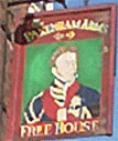 The pub sign. Pakenham Arms, Bloomsbury, Central London