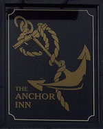 The pub sign. The Anchor Inn, Wingham, Kent