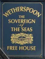 The pub sign. The Sovereign of the Seas, Petts Wood, Greater London