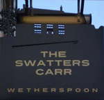 The pub sign. The Swatters Carr, Middlesbrough, North Yorkshire